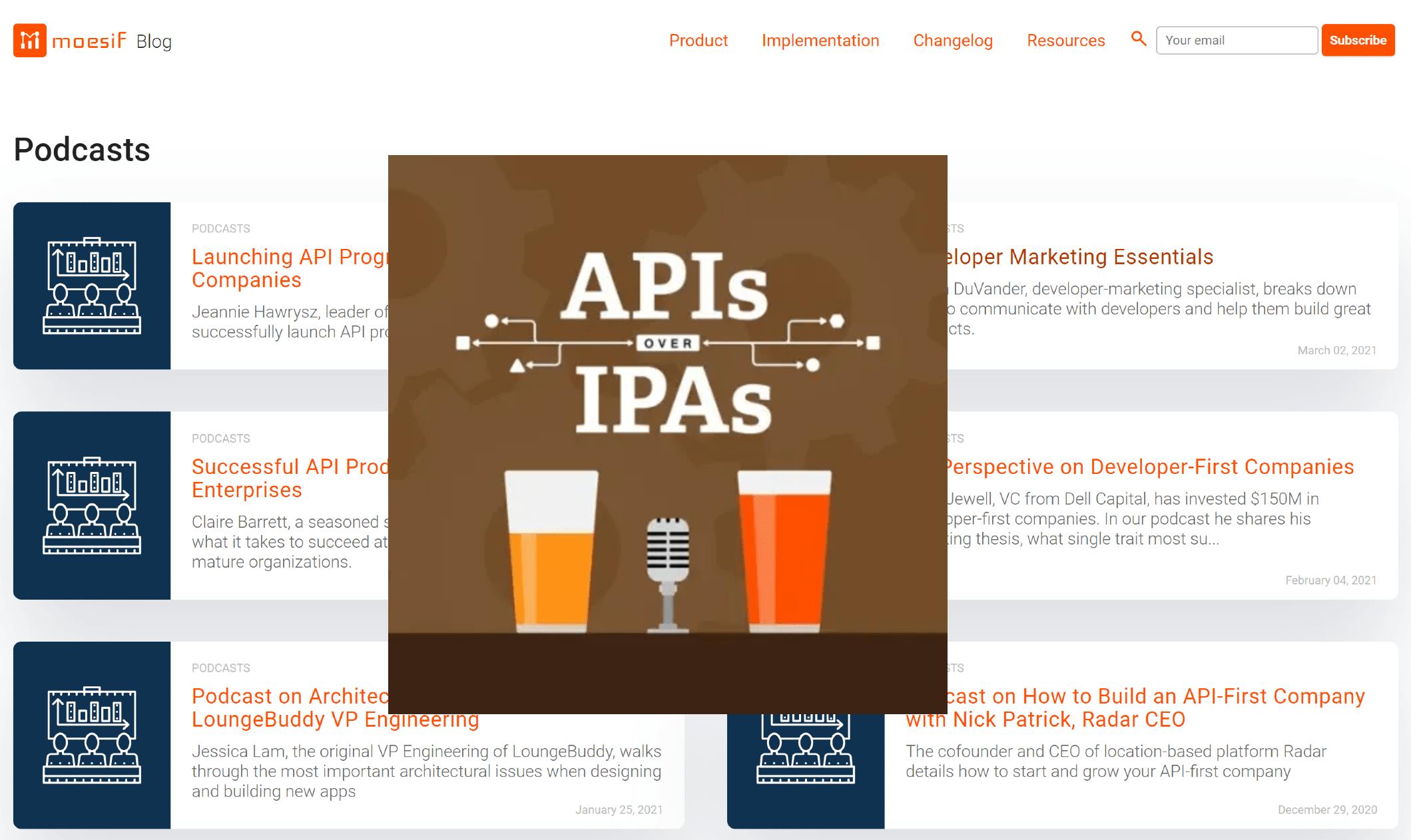 APIs over IPAs